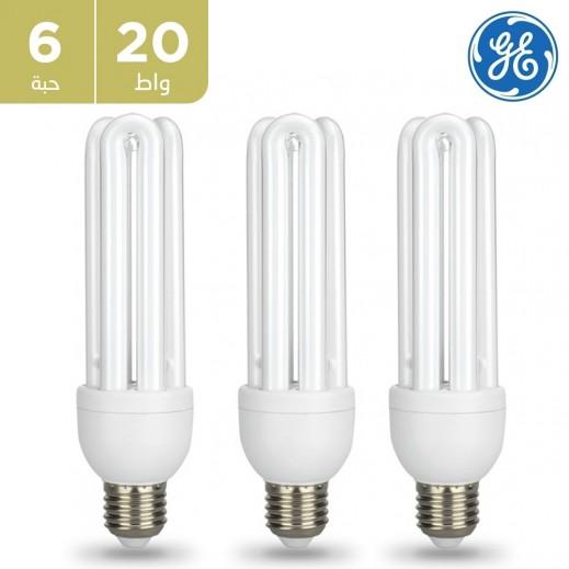 GE - لمبة LED 20 واط TBX 3U E27 - أبيض دافئ (6 حبه)