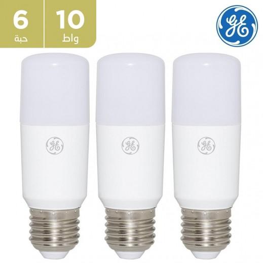 GE - لمبة LED 10 واط STIK - أبيض  (6 حبه)