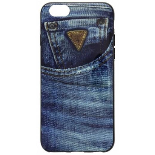 غطاء GUESS لأيفون 6 مادة TPU ازرق جينز GUMHCP6DE