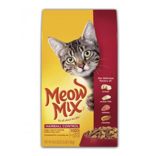 ميو ميكس – طعام القطط  لتقليل كرات الشعر في المعدة 1.43 كجم