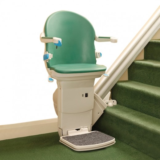 ستارليفت – كرسي مينيفاتور لصعود ونزول الدرج لكبار السن وذوي الإعاقة على مسار حديد (مخصص لليد اليمني) - يتم التوصيل بواسطة التوصيل بعد يومين عمل  بواسطة العيسى