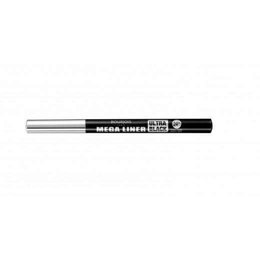 """برجوا – قلم أيلاينر لتحديد العين """" ميجا """"  أسود قاتم  رقم T02"""