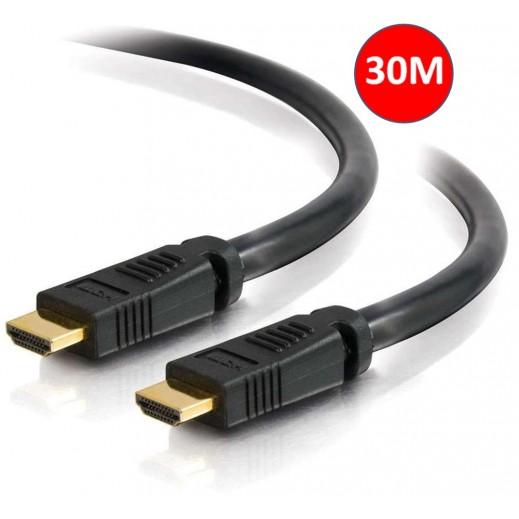 كيبل HDMI طول 30 متر يدعم 21GBPS 3D 1080P - اسود