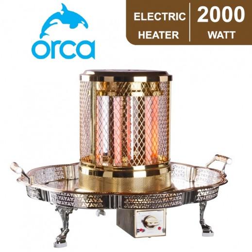 أوركا – دفاية كهربائية كوارتز صغيرة بقوة 2,000 واط – ذهبي - يتم التوصيل بواسطة EASA HUSSAIN AL YOUSIFI & SONS COMPANY