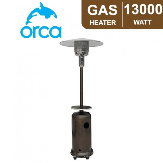 اوركا - دفاية غاز 13,000 واط - أسود - يتم التوصيل بواسطة EASA HUSSAIN AL YOUSIFI & SONS COMPANY