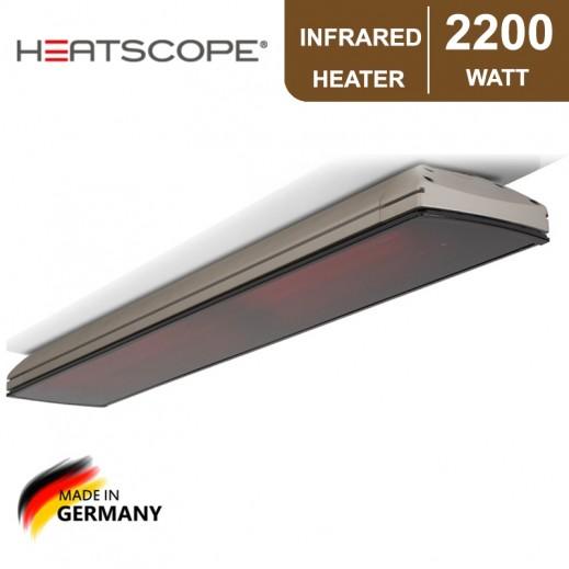 هيتسكوب – دفاية بالأشعة تحت الحمراء بقوة 2,200 واط - رمادي