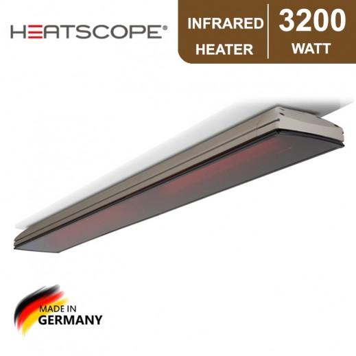 هيتسكوب – دفاية بالأشعة تحت الحمراء بقوة 3,200 واط - رمادي