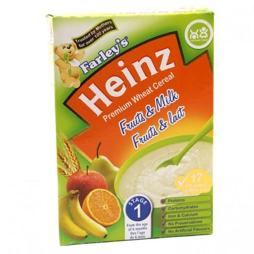 هاينز - فارليز حبوب قمح ممتازة فواكه وحليب - المرحلة الأولى (من سن 6 أشهر) 250 جم