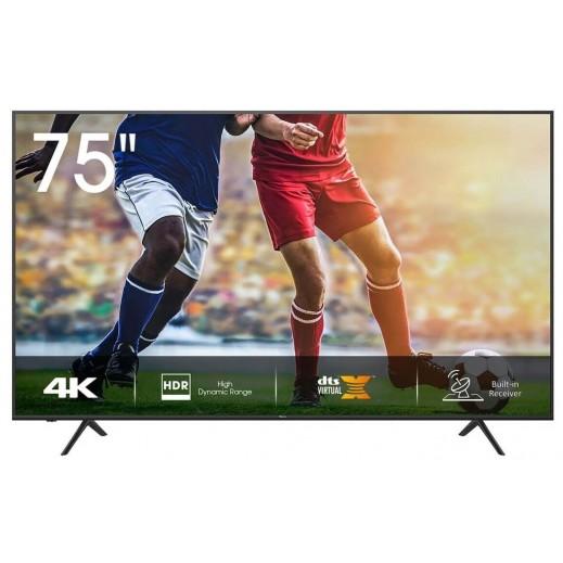 هايسنس – 75 بوصة تلفزيون ذكي UHD 4K – أسود - يتم التوصيل بواسطة AL ANDALUS بعد 3ايام عمل