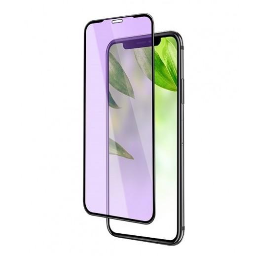 هوكو - حماية شاشة زجاجي ثلاثي الابعاد لهاتف ايفون XR – اسود