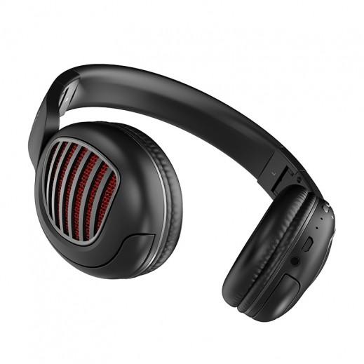 هوكو - سماعة راس لاسلكية W23 Brilliant Sound - اسود
