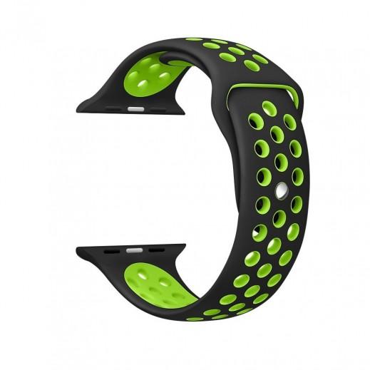 سوار ساعة أبل الرياضية 42 مم – أسود و أخضر
