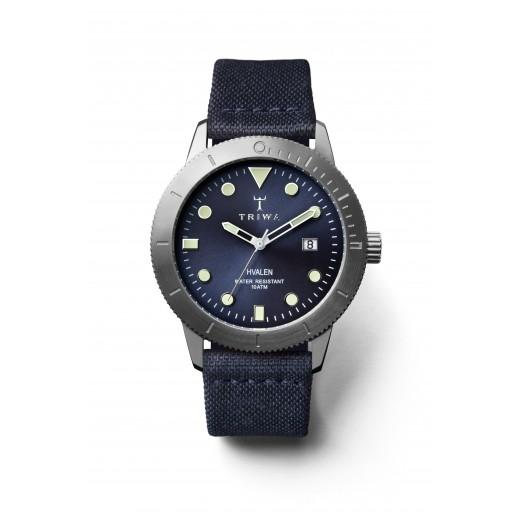 """تريوا – ساعة """"بالتيك هفالن"""" لكلا الجنسين + حزام سيليكون أزرق للتبديل - يتم التوصيل بواسطة Yacob Behbahani"""