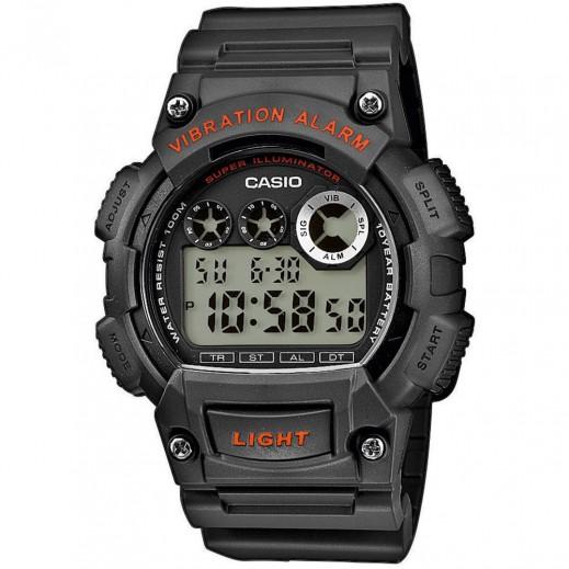 كاسيو - ساعة يد رقمية رجالي بسوار راتنج - رمادي  - يتم التوصيل بواسطة Veerup General Trading