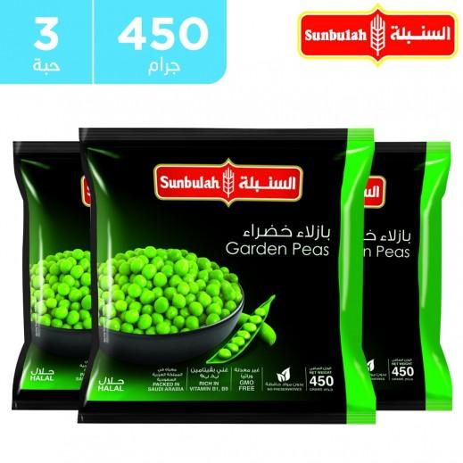 السنبلة - بازيلاء خضراء مجمدة 3 × 450 جم