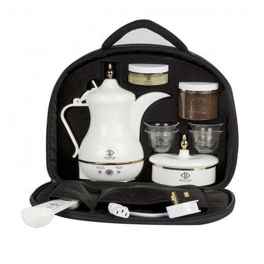 دلة المسافر – صانعة القهوة العربية 400 مل – ابيض
