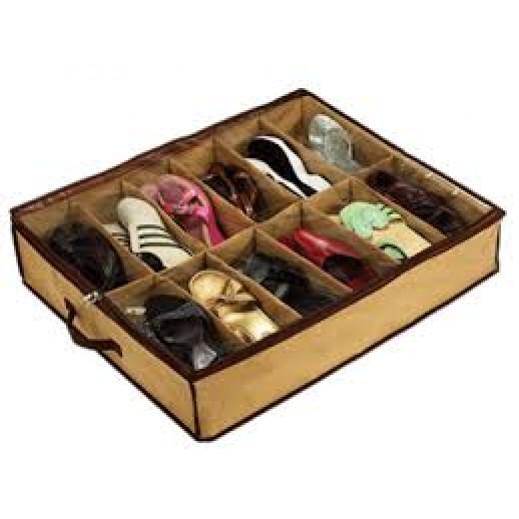 حافظة ومُنظمة الأحذية حتي 12 حذاء