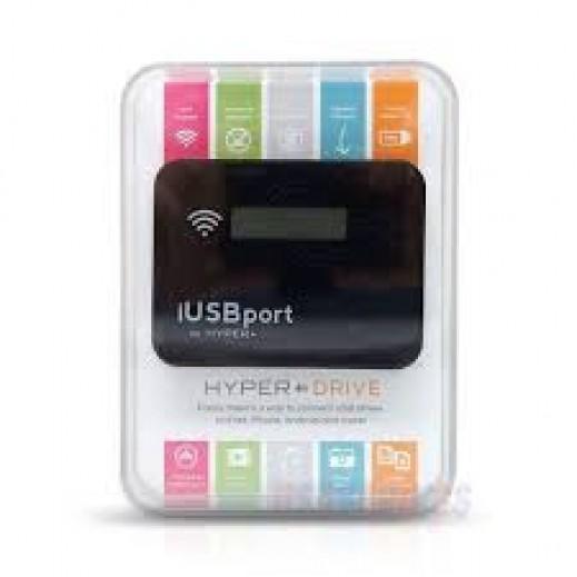 هايبر درايف – موصل لاسلكي iUSB للتحكم بمحتوياتك الرقمية عن بعد عبرالأجهزة المحمولة - أسود