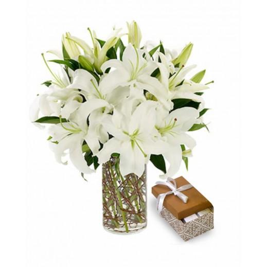 فازة زهور ليلي - يتم التوصيل بواسطة Covent Palace