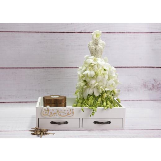 عروس من الزهور البيضاء - يتم التوصيل بواسطة Gate Of Flowers