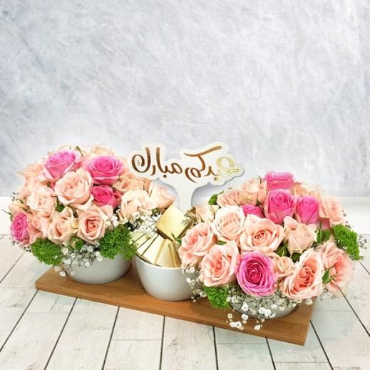 مجموعة من البيبي روز - يتم التوصيل بواسطة Flowerrique