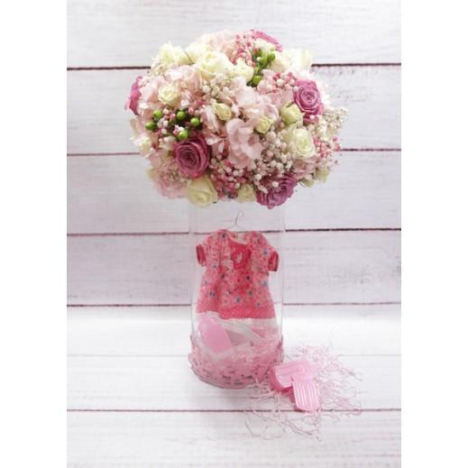 فازة زهور متنوعة للمولود الجديد (بنت) - يتم التوصيل بواسطة Gate Of Flowers