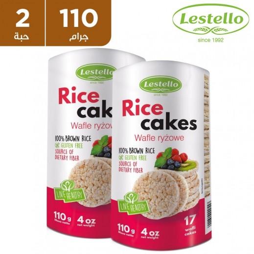 ليستلو - كعك الأرز البني 100٪ الخالي من الجلوتين 2 × 110 جم