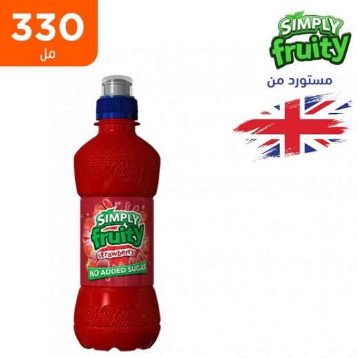 سيمبلي فروتي عصير فراولة خالي من السكر 330 مل