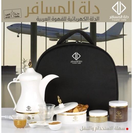 دلة محضرة قهوة عربية للسفر 500ml مع حقيبة مجانية