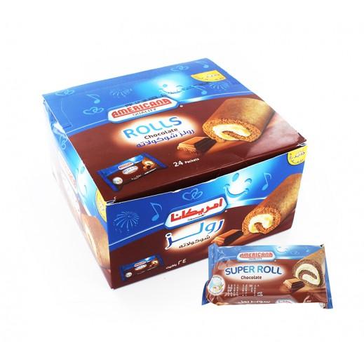 أمريكانا - رولز بالشوكولاتة - 24 حبة × 25 جم