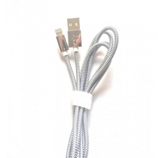 Zinc Alloy Led Lightning Cable 1.5m Silver