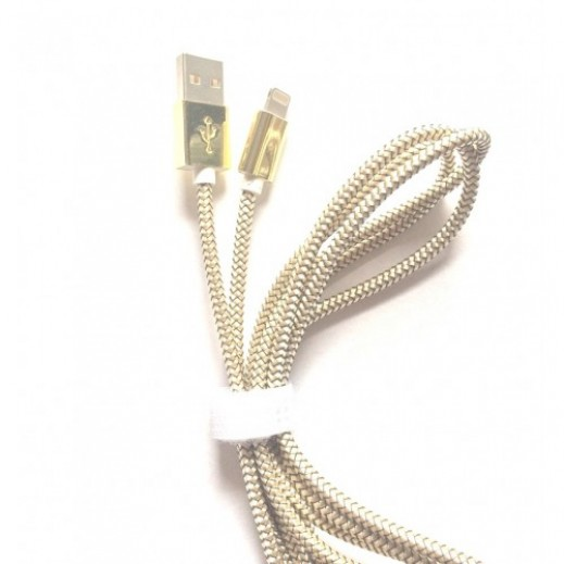 Zinc Alloy Led Lightning Cable 1.5m Gold