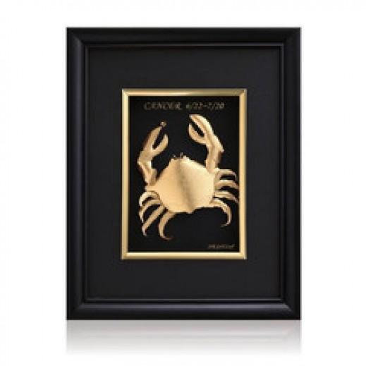 كيو بيست – رمز برج السرطان ذهبي عيار 24 ثلاثي الأبعاد