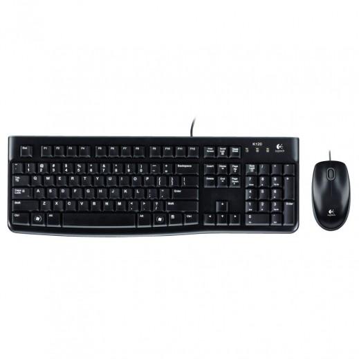 لوجيتك مجموعة لوحة مفاتيح وفأرة للمكتب MK120