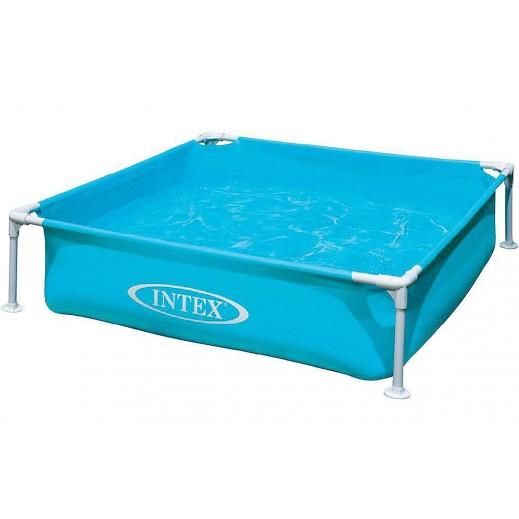 إنتكس – حمام سباحة صغير للأطفال 122 × 122 × 30 سم – أزرق