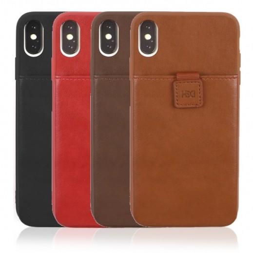 اتش دي دي – غطاء حماية مع محفظة داخلية لهاتف ايفون XS / X
