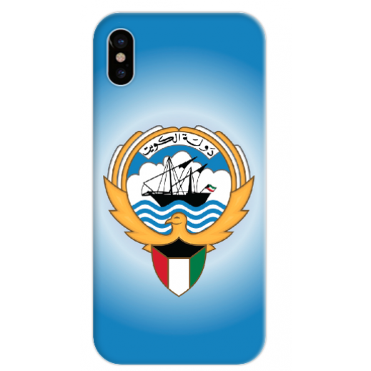 غطاء ازرق للهاتف – شعار دولة الكويت - يتم التوصيل بواسطة Berwaz.com