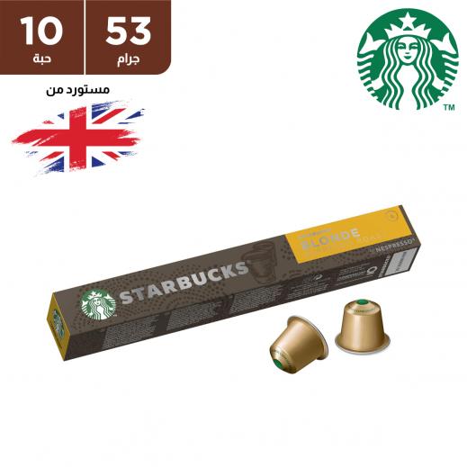 ستاربكس – قهوة نسبرسو بلوند اسبريسو رووست 10 كبسولة 53 جم