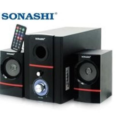 """سوناشي – سماعات 2.1  قناة مع FM موديل """" SHS-7081USRB"""""""