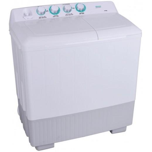 هايسنس- غسالة ملابس حوضين 14 كجم - أبيض - يتم التوصيل بواسطة AL ANDALUS بعد 3ايام عمل