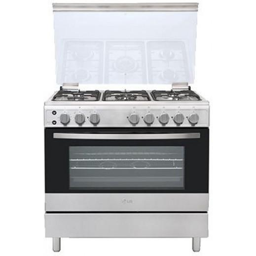إل جي – طباخ غاز 5 شعلة 90 × 60 سم - يتم التوصيل بواسطة ABDULAZIZ ALBABTAIN CO.