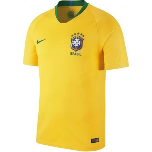 نايك - تى شيرت منتخب البرازيل 2018 لكرة القدم – مقاس رجالي S إلى XL