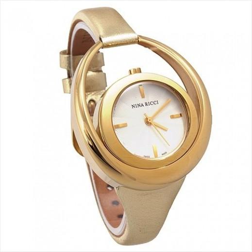نينا ريشي - ساعة بحزام ذهبي للنساء - يتم التوصيل بواسطة My Fair Lady