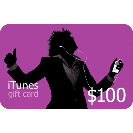 آي تونز - بطاقة تعبئة بقيمة 100 دولار