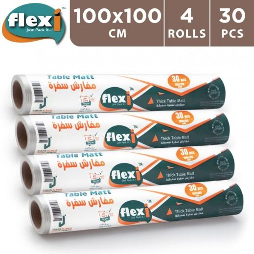 فليكسي - مفرش طاولة 100 × 100 سم - 4 × 30 حبة