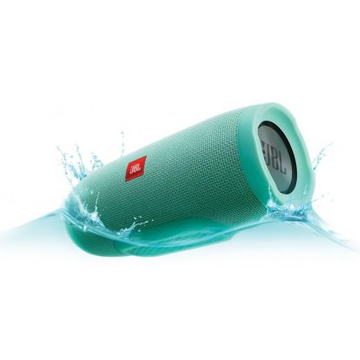 جي بي ال - مكبر الصوت تشارج 3 لاسلكي محمول ومضاد لتناثر الماء بتقنية البلوتوث – فيروزي