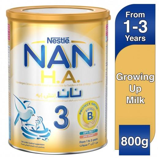 نان - غذاء حليب إتش. إيه لمرحلة النمو مع الحديد مرحلة 3 (1-3 أعوام) 800 جم