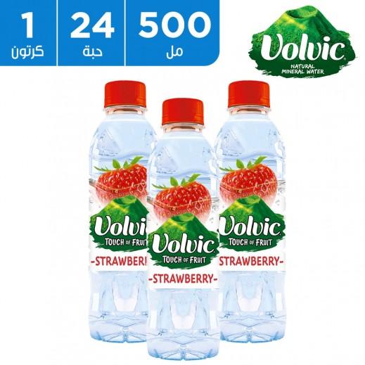 فولفيك - مياه معدنية طبيعية بالفراولة 24 × 500 مل
