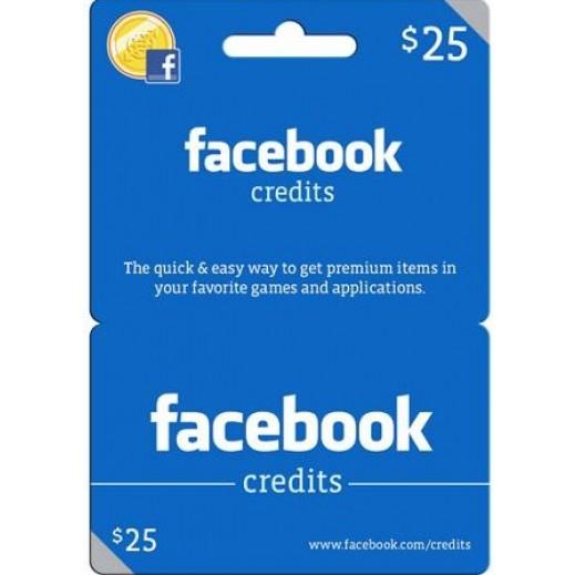 بطاقة فورية بقيمة 25 دولار العاب للفيسبوك