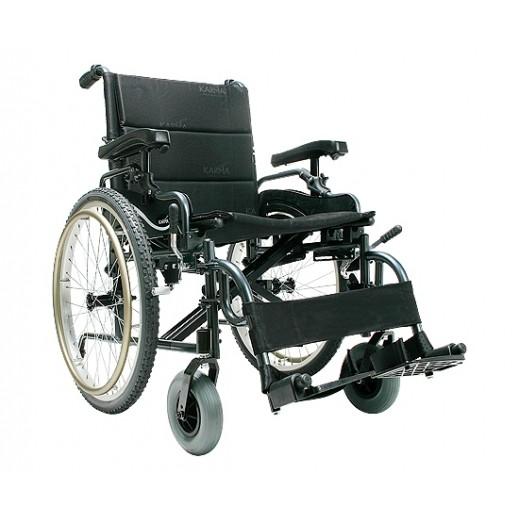 كارما - كرسي متحرك يدوي خفيف للأوزان الثقيلة سعة 150 كجم - يتم التوصيل بواسطة Al Essa Company